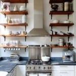 Mutfakta Ahsap Raf Fikirleri