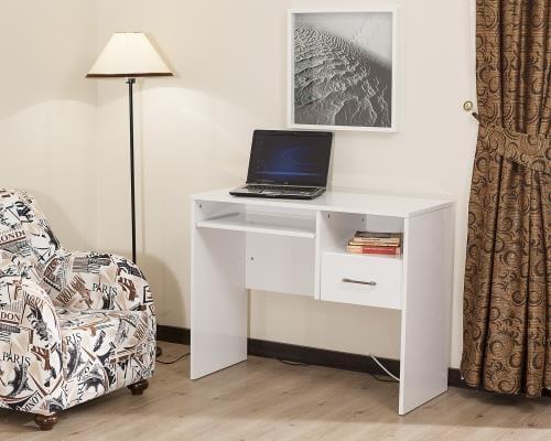 Tekzen küçük beyaz Bilgisayar Masası