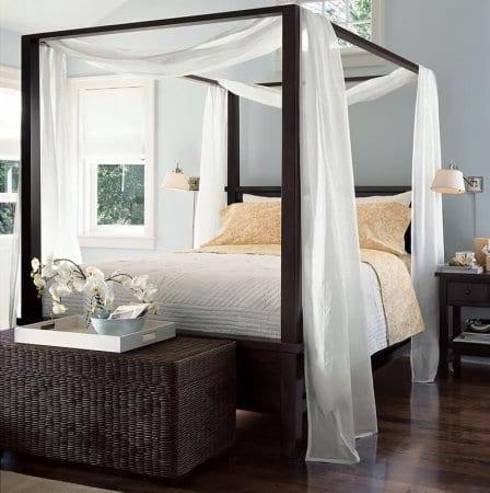 Yatak Odas Ahşap Cibinlik Modeli