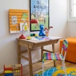 ahşap çocuk odası çalışma masası