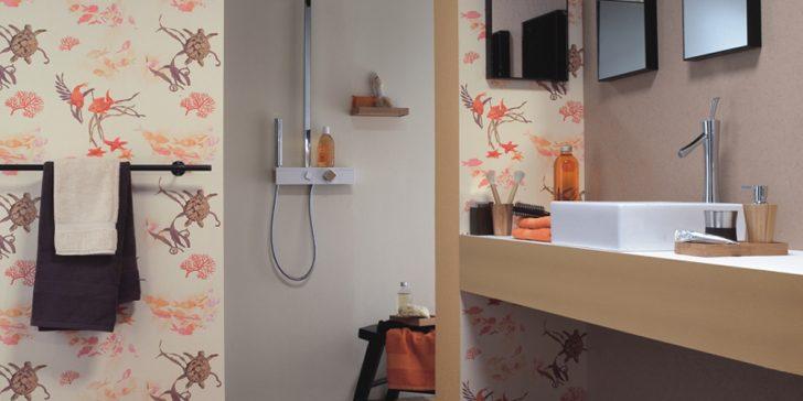 Suya Dayanıklı Banyo Duvar Kağıdı Modelleri 2017