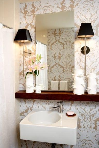 banyolarda duvar kağıdı uygulaması