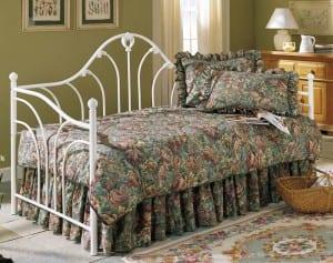beyaz ferforje daybed-yatak