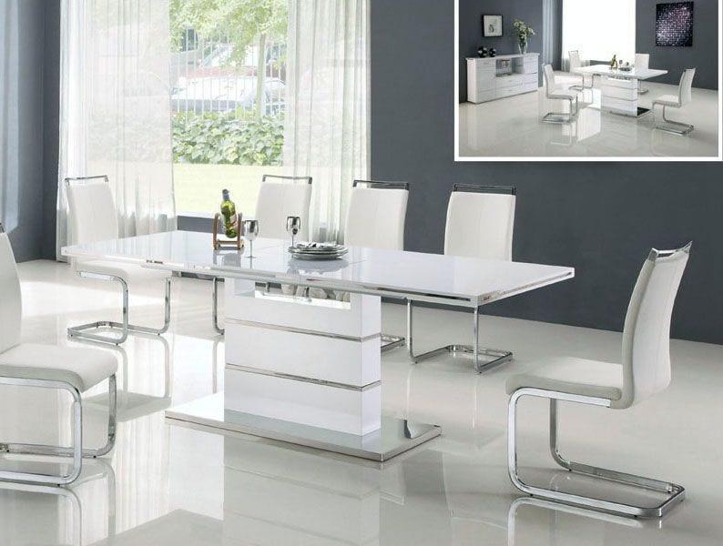 beyaz modern yemek masası modelleri