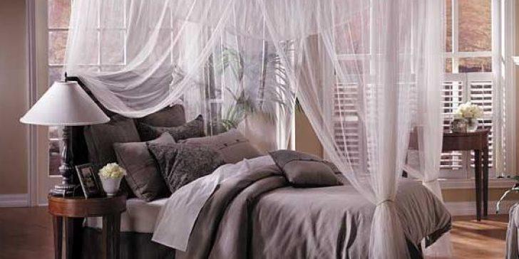 Cibinlikli Muhteşem Yatak Odası Dekorasyonu