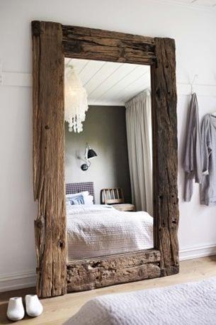 dekoratif büyük yatak odası aynaları