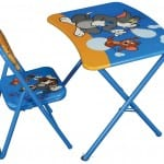 eğlenceli resimli çocuk çalisma masasi