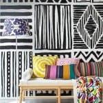 etnik desenli duvar kağıtları