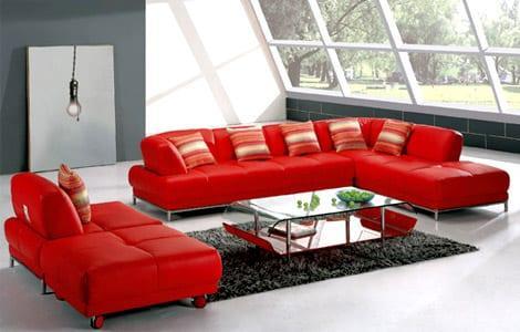 ikea kırmızı modern kose takimlari