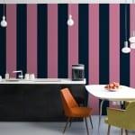 iki renkli çizgili duvar kağıtları