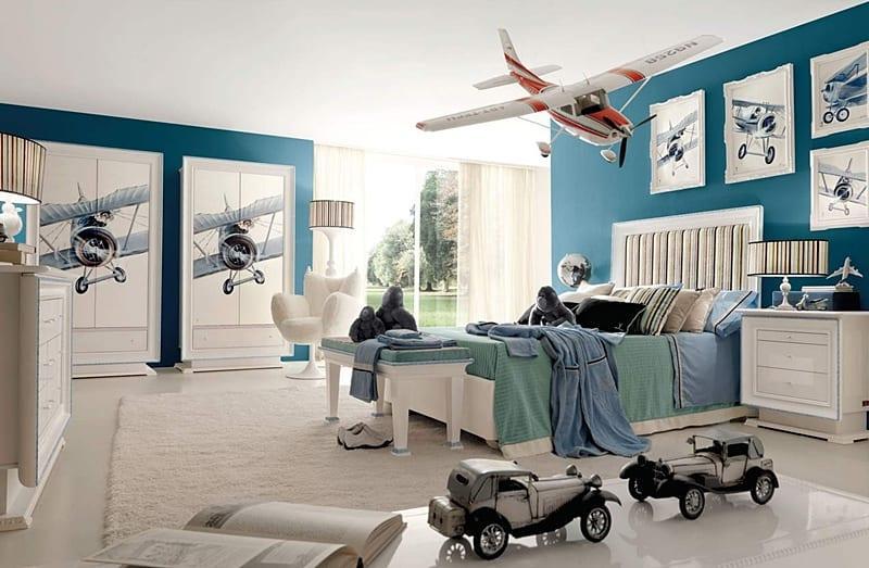 mavi-dekorasyon-genç-erkek-odası