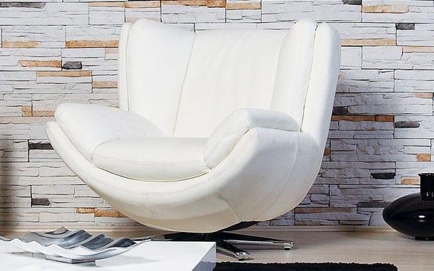 modern beyaz deri berjer-koltuk