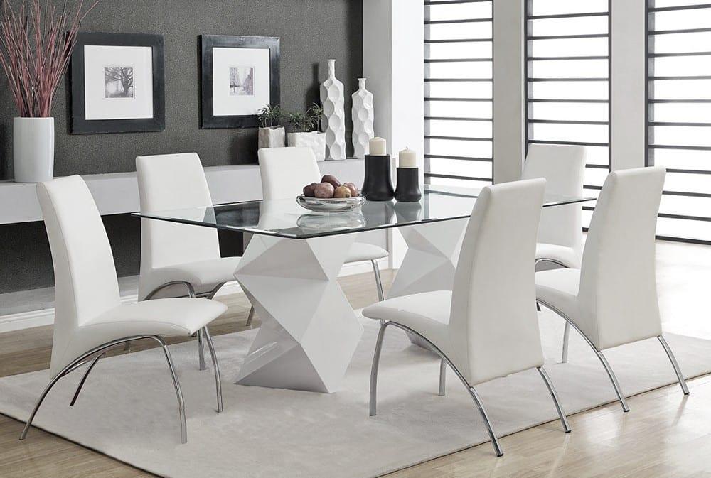 modern beyaz yemek masası