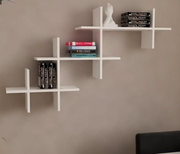 modern duvar-rafları