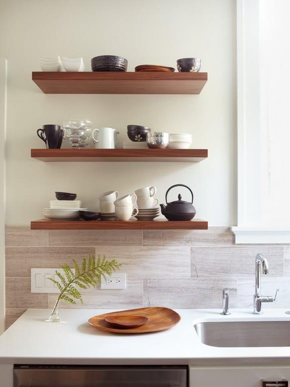 modern mutfak rafı