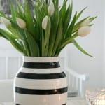 modern siyah beyaz vazo