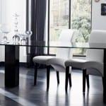 modern siyah cam masa modeli
