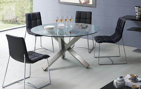 Modern yuvarlak cam yemek masa modeli dekorstyle for Table extensible tunisie