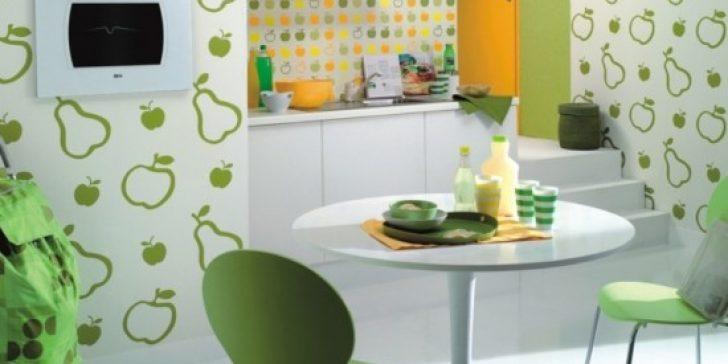 Dekoratif Mutfak Duvar Kağıdı Modelleri 2015