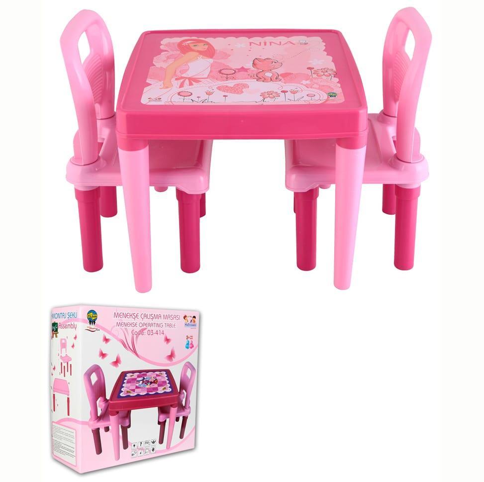 pembe çocuk çalışma masası