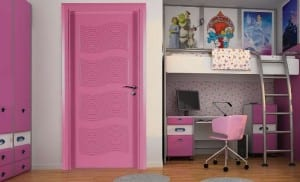 pembe oda kapısı