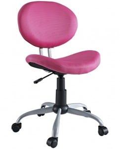 pembe sade bilgisayar masası sandalyesi