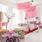 renkli genç kız odaları