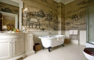 Resimli Banyo Duvar Kağıdı Modelleri 2017