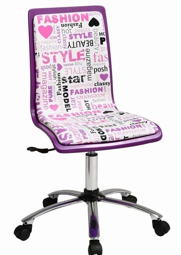 yazı desenli modern çalışma masası sandalye modeli