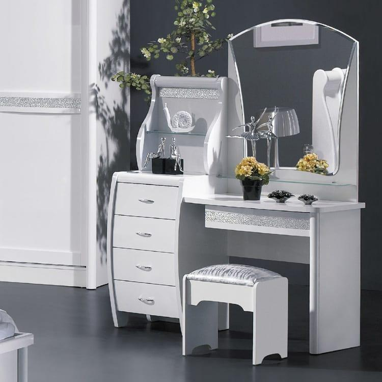 İkea beyaz modern makyaj masası