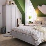 İkea beyaz yatak odası modelleri