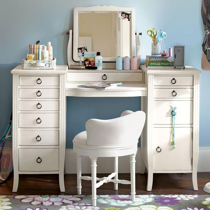 İkea Makyaj Masası : Beyaz Renk
