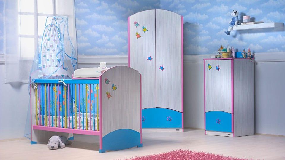 İstikbal mavi klasik bebek odası