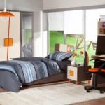 İstikbal turuncu krem gri Neon genc odasi modeli
