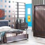 2014-2015 modern ahsap yatak odasi