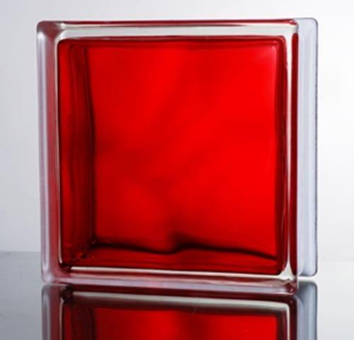 Kırmızı renkte cam tuğla modeli