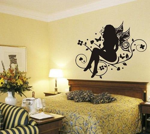 Kadın Figürlü Dekoratif Duvar Sticker Modeli