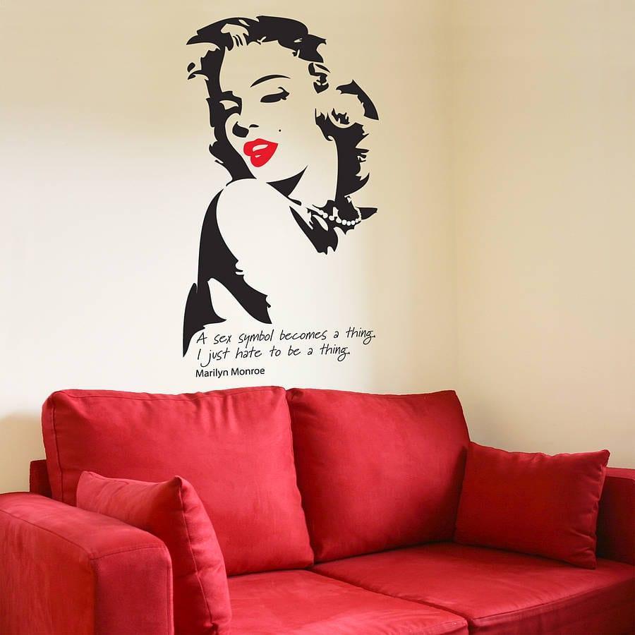 Marilyn Monroe Duvar Sticker Modelleri