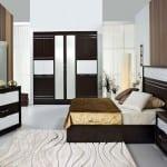 Merinos kahve beyaz Yatak Odaları