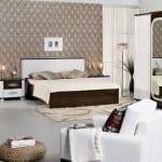 Merinos kahve beyaz Yatak Odasi