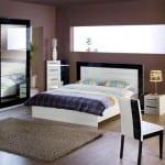 Mondi siyah beyaz yatak odasi modelleri