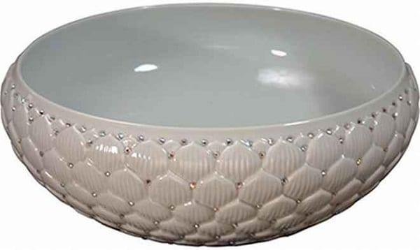 Swarovski taslı beyaz dekoratif lavabo