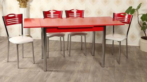 Tekzen Kırmızı Yandan Açılır mutfak Masası
