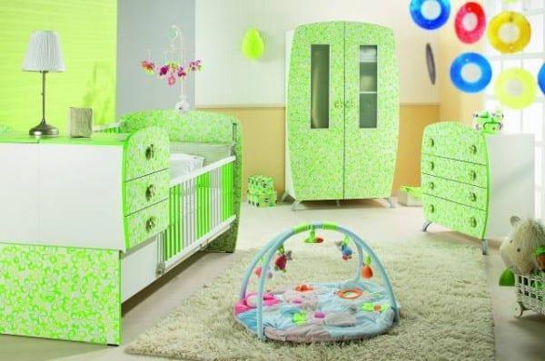 Yesil Renkli İstikbal Bebek Odasi