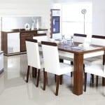 akdeniz beyaz yemek odasi