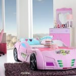 alfemo pembe arabalı kız cocuk odası