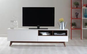 Allegro TV Sehpası Beyaz Ceviz