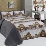 apolena baskı desenli yatak örtüsü