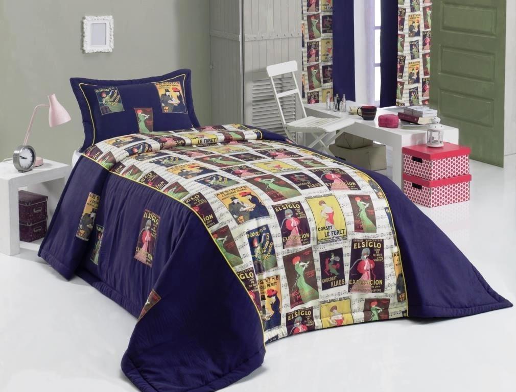 apolena mavi yatak örtüsü