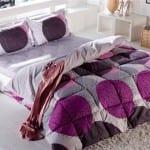 bellona modern desenli uyku seti